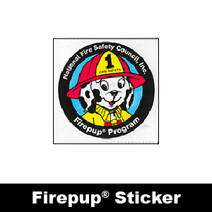 506F: Firepup® Program Sticker