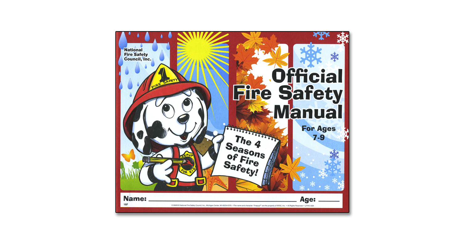 016F: Official Fire Safety Manual (Ages 7-9)