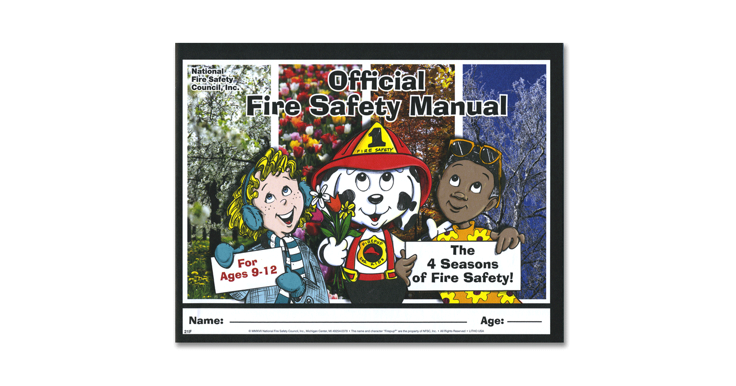 021F: Official Fire Safety Manual for ages 9-12