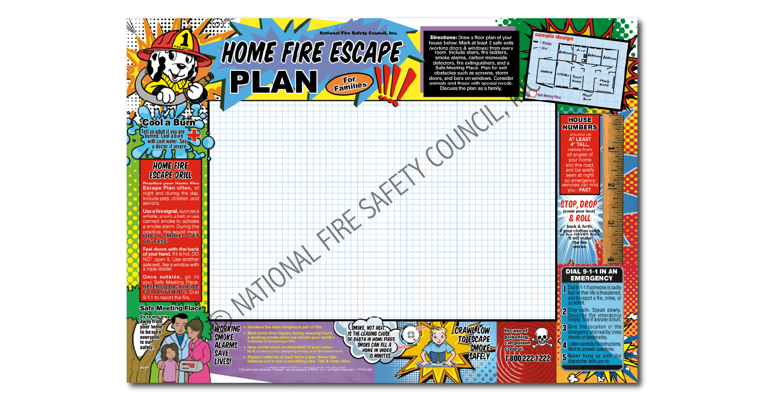204F: Home Fire Escape Plan for Families