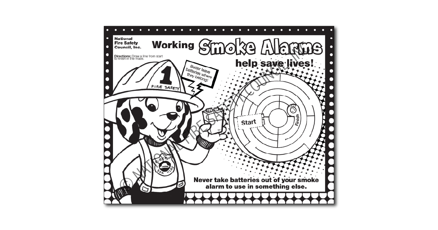 "249F: ""Arm Your Smoke Alarm.""™ Color / Activity Sheet"